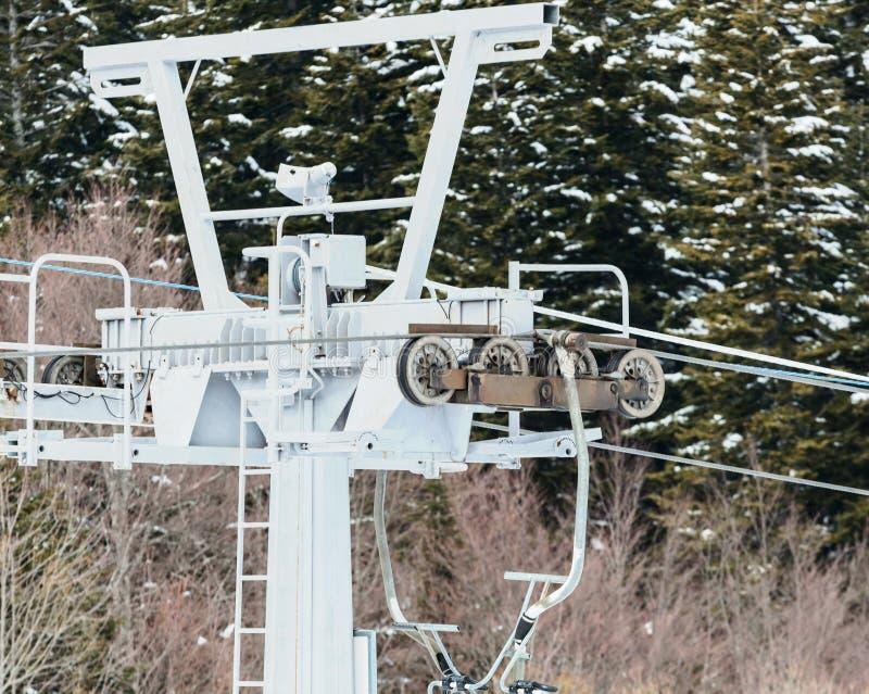 лыжа курорта chairlift стоковая фотография rf