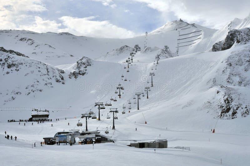 лыжа курорта ischgl стоковое фото rf