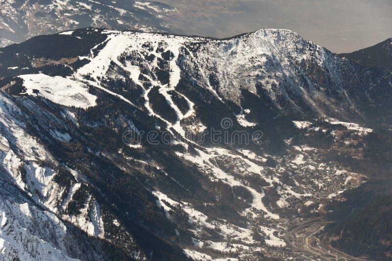 лыжа курорта les houches стоковые фото