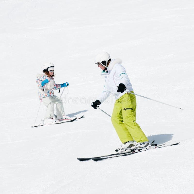 лыжа урока стоковые фотографии rf