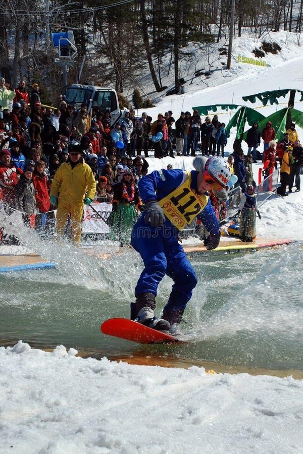 лыжа aqua стоковые изображения rf