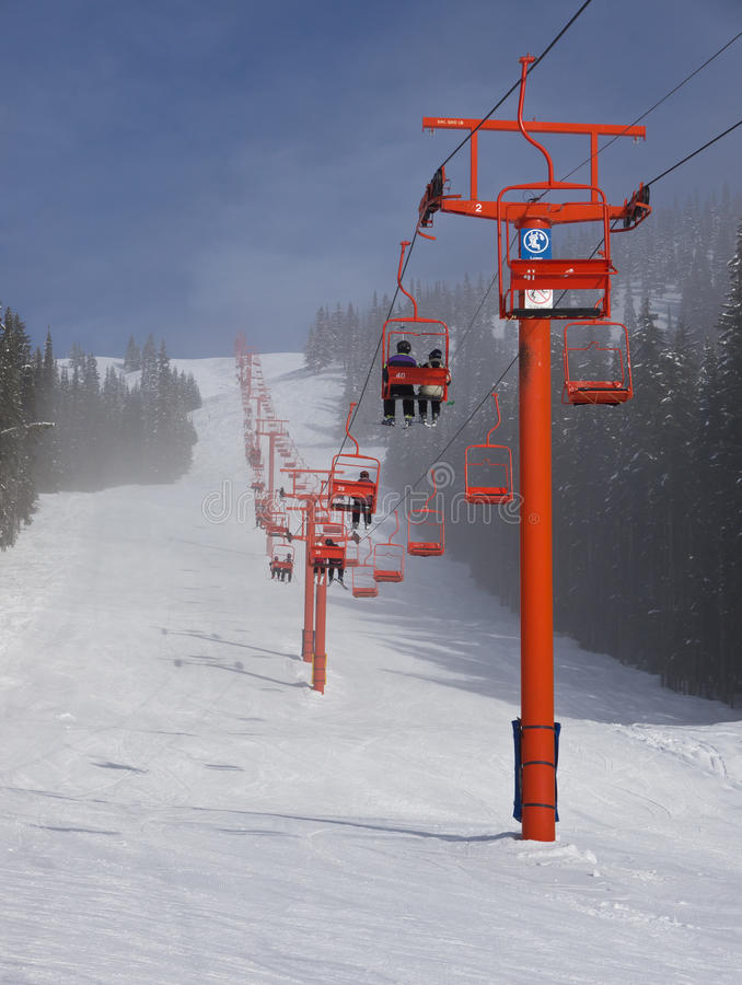 лыжа chairlift стоковое фото