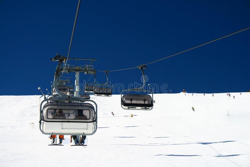 лыжа chairlift стоковые фото
