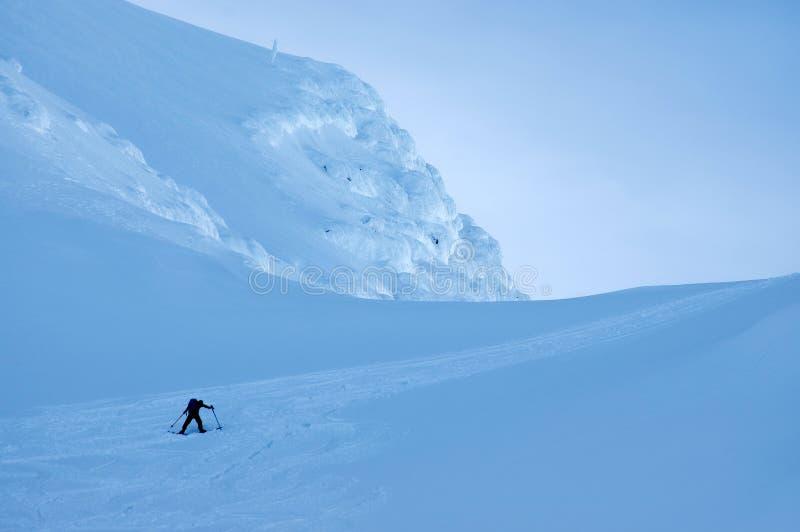 Лыжа Freeride в Transylvanian Альп стоковое фото
