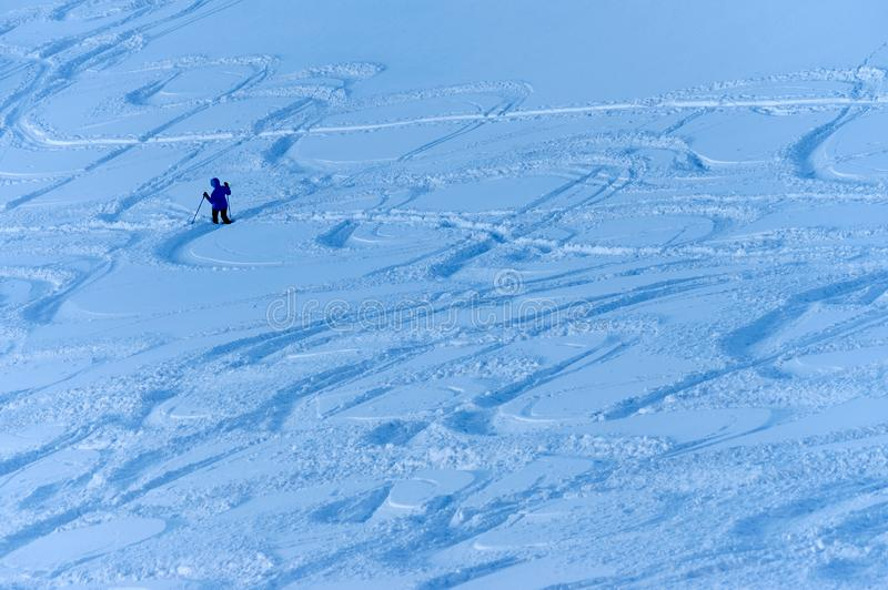 Лыжа Freeride в Transylvanian Альп стоковая фотография rf