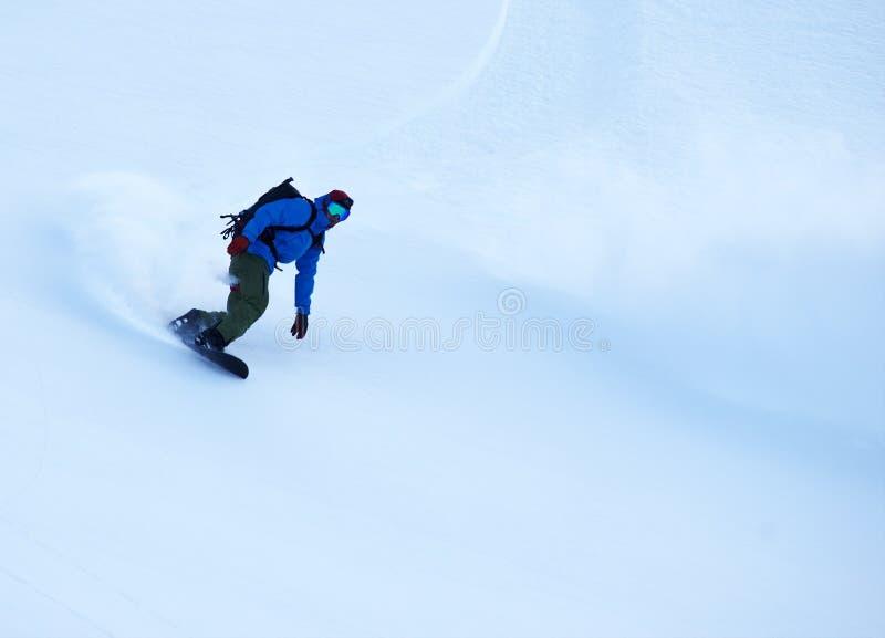 Лыжа Freeride в Transylvanian Альп стоковые фотографии rf