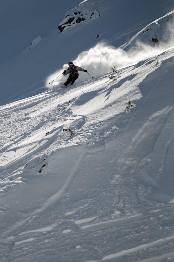 Лыжа Freeride стоковые изображения
