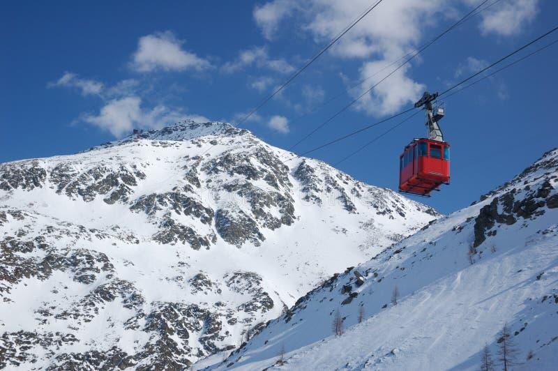 лыжа railway кабеля стоковое изображение