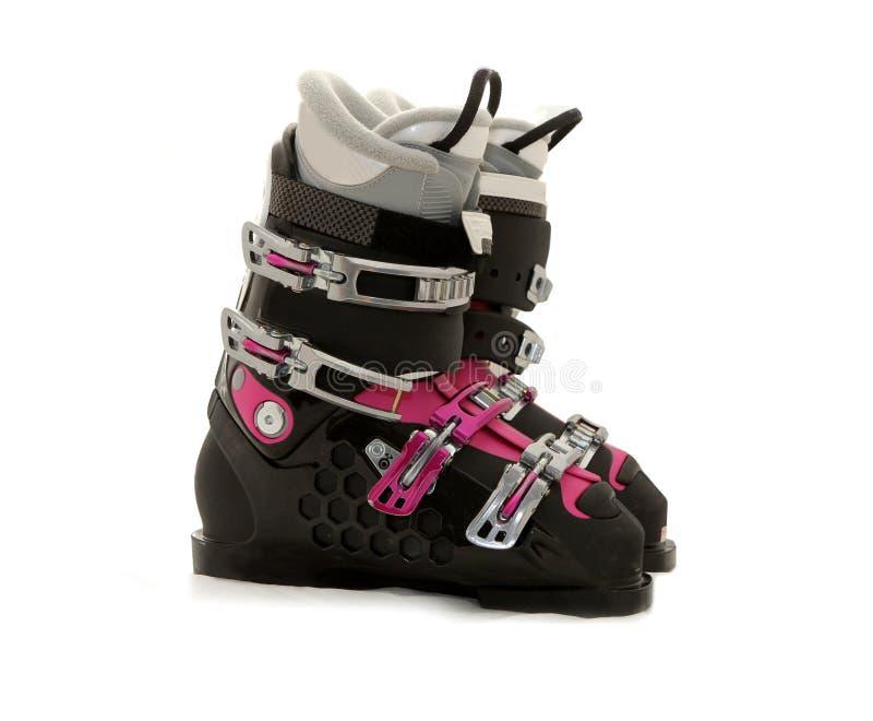 лыжа w ботинок стоковые фотографии rf