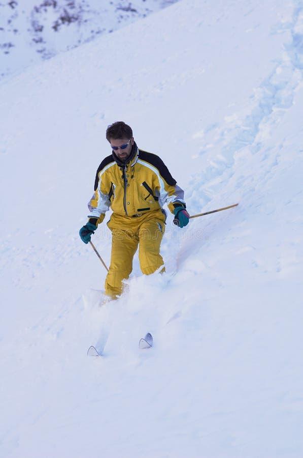 лыжник горы стоковые фотографии rf