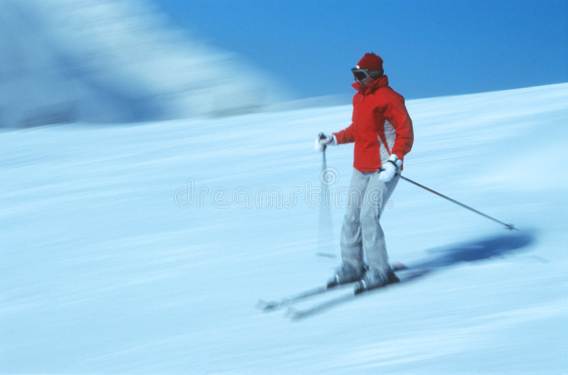 лыжник 6 действий стоковая фотография