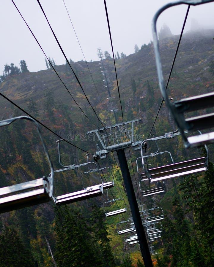 Лыжный курорт в летнем времени стоковое фото rf
