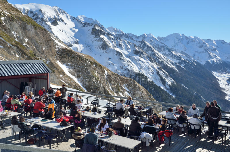 Лыжный курорт Artouste стоковое фото