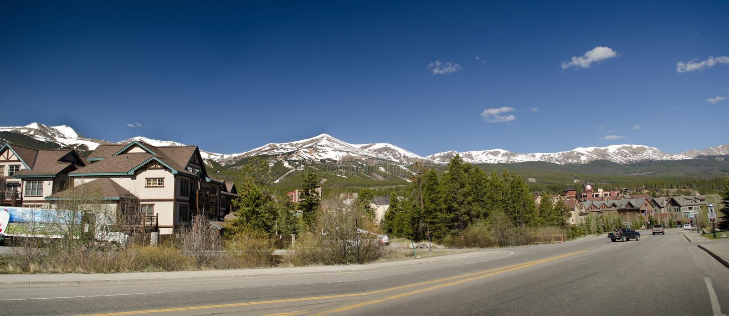 Лыжный курорт Breckenridge Колорадо стоковое фото
