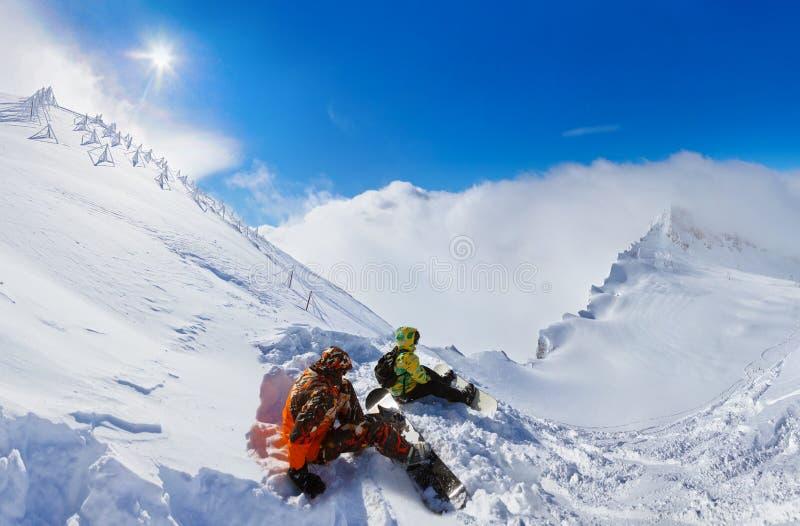 Лыжный курорт Kaprun гор Австрия стоковые фотографии rf
