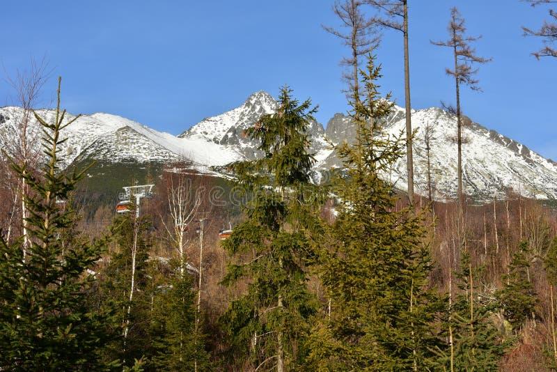Лыжный курорт ¡ Lomnica Tatranskà стоковые фото