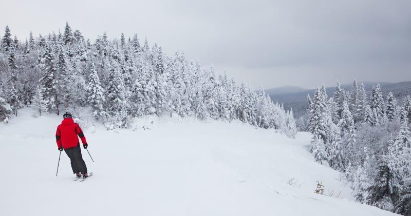 Лыжный курорт Mont-Tremblant, Квебек, Канада стоковые изображения rf