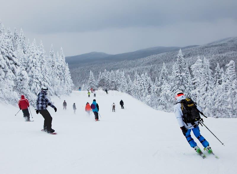 Лыжный курорт Mont-Tremblant, Квебек, Канада стоковая фотография rf