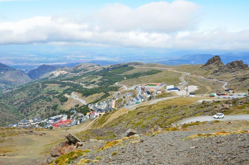 Лыжный курорт Pradollano весной стоковое фото