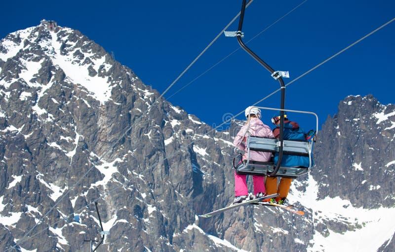 Лыжный курорт Tatranska Lomnica, Словакия стоковые изображения