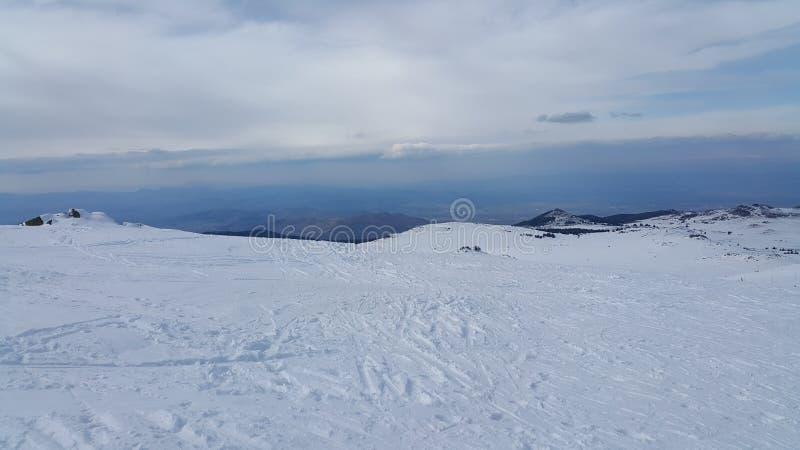 Лыжный курорт Vitosha стоковое фото rf