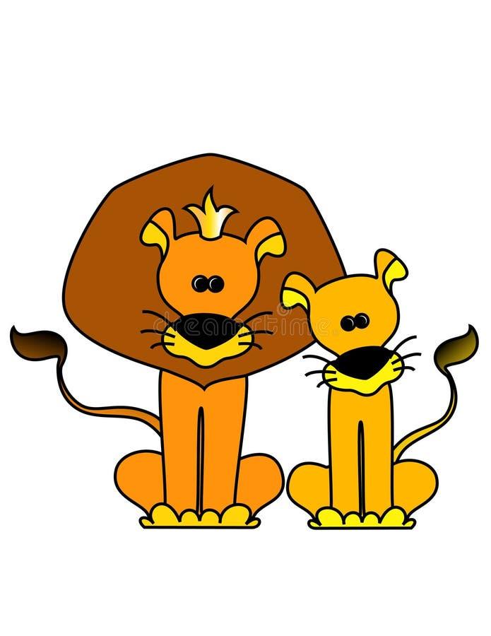 львев короля иллюстрация вектора