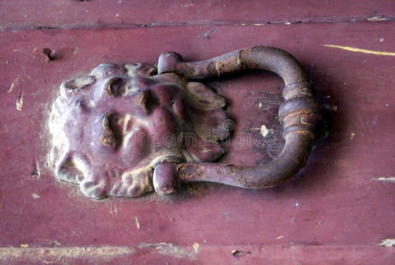львев knocker двери стоковое изображение