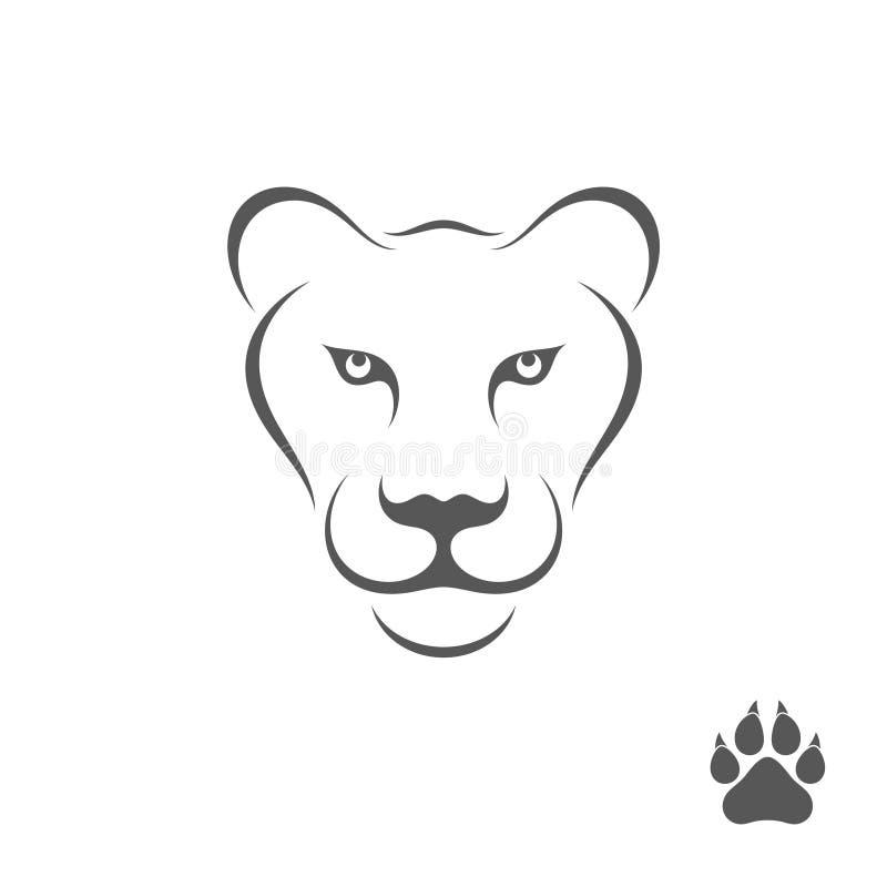 Львица с печатью лапки бесплатная иллюстрация