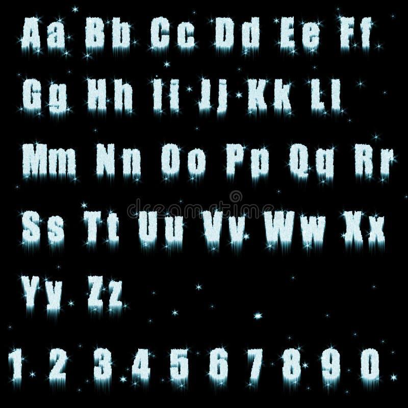 льдед алфавита иллюстрация штока