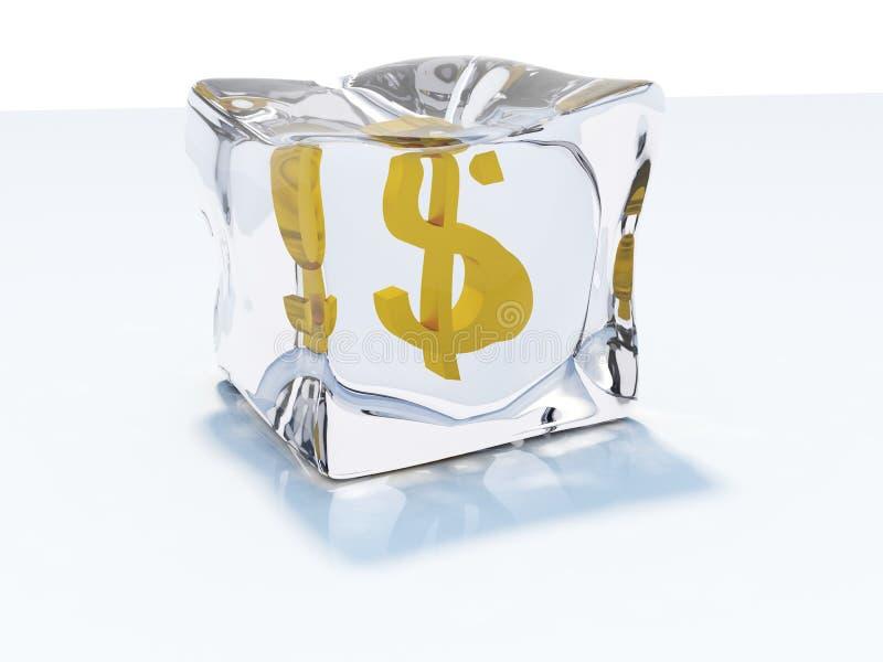 льдед доллара кубика бесплатная иллюстрация