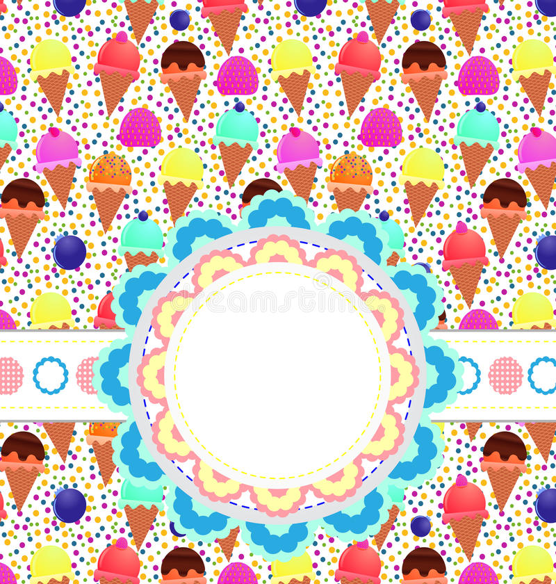 льдед карточки cream бесплатная иллюстрация