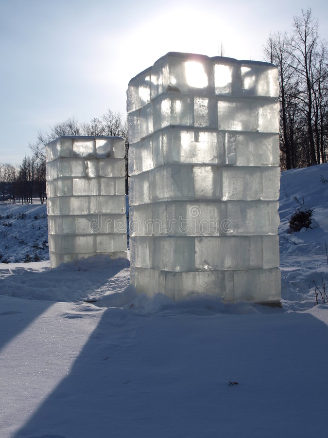 льдед колонок стоковое фото rf