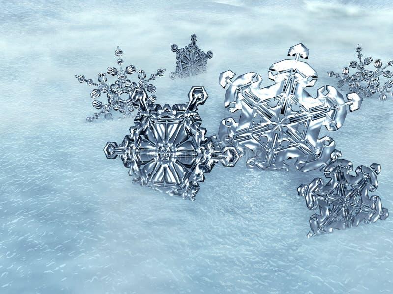 льдед кристаллов иллюстрация вектора