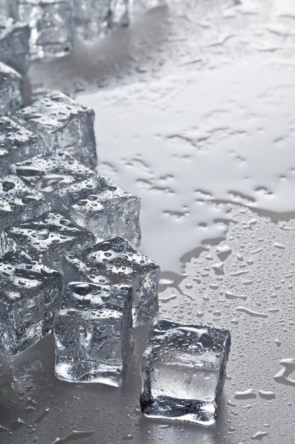 льдед кубиков возражает влажную стоковая фотография