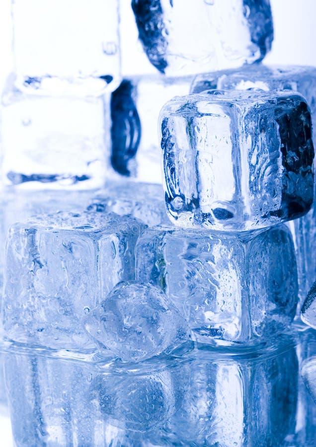 льдед кубиков кристаллов стоковое изображение rf