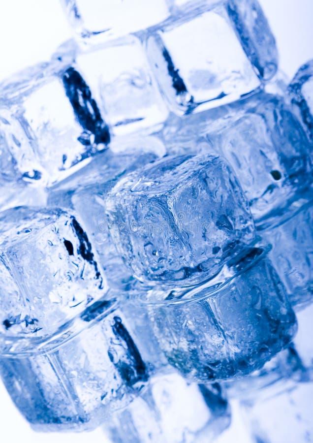 льдед кубиков кристаллов стоковые фото