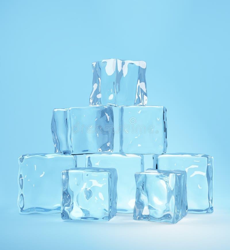 льдед кубиков иллюстрация штока