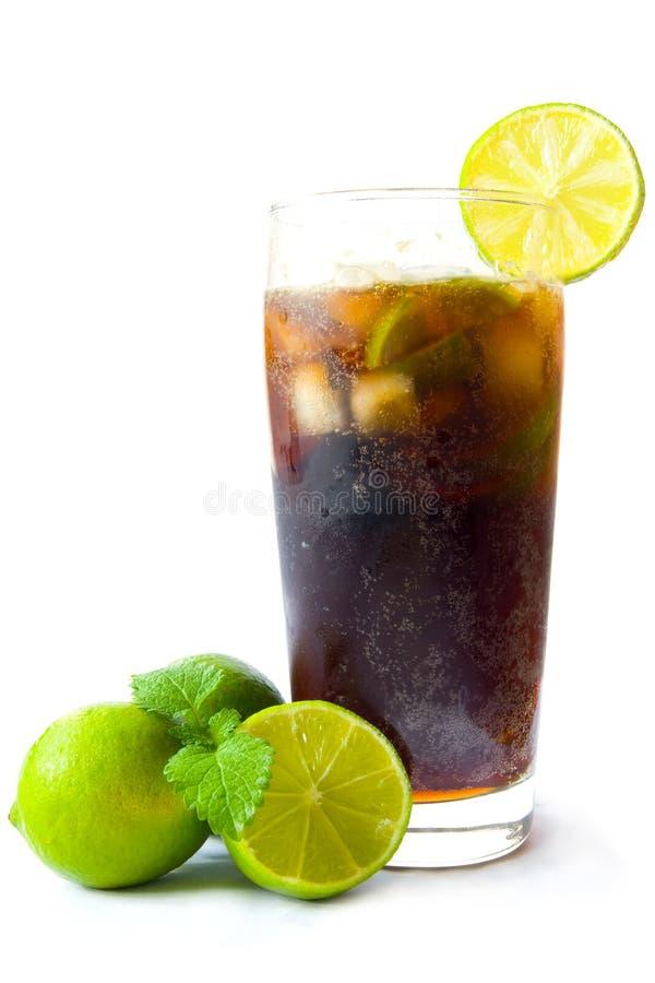 льдед питья колы холодный стоковое изображение rf