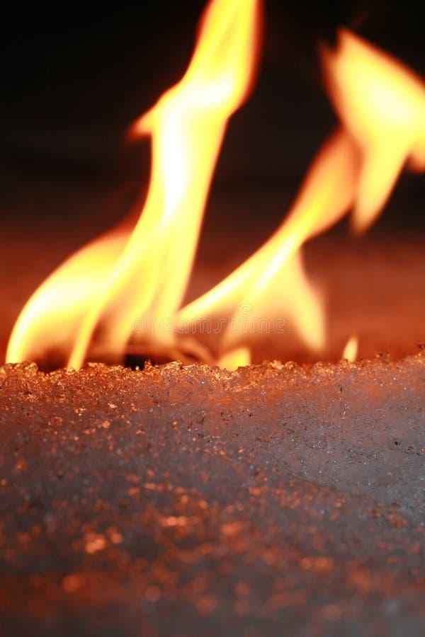 льдед пожара стоковая фотография rf