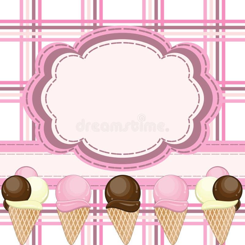 льдед приветствию карточки cream иллюстрация штока