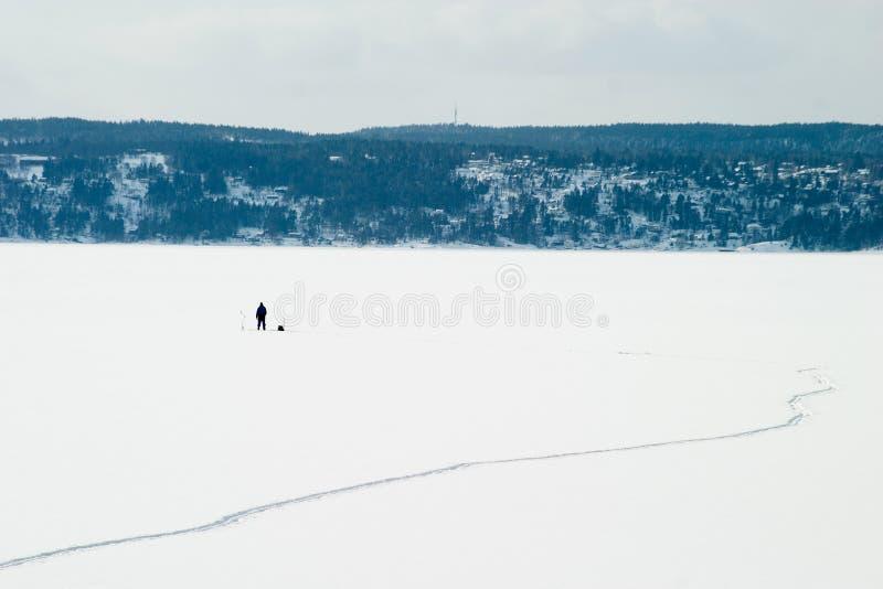льдед рыболовства стоковое изображение rf