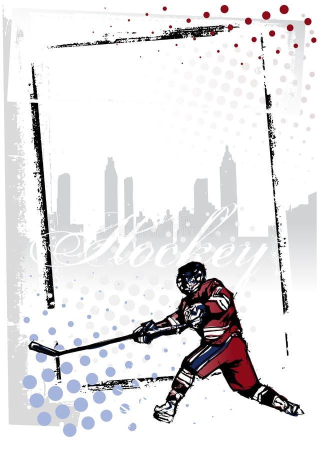 льдед хоккея рамки иллюстрация вектора