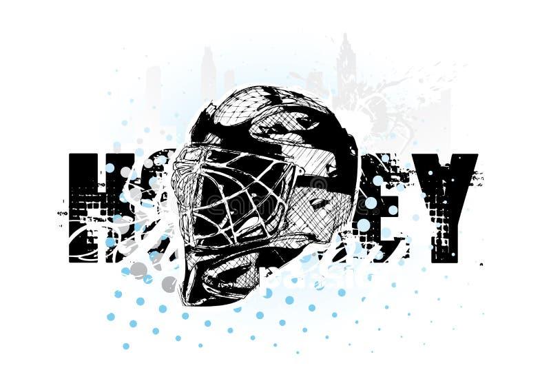 льдед хоккея шлема иллюстрация вектора