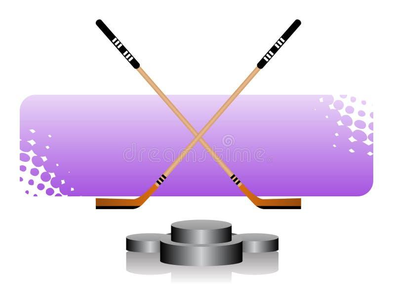 льдед хоккея иллюстрация штока