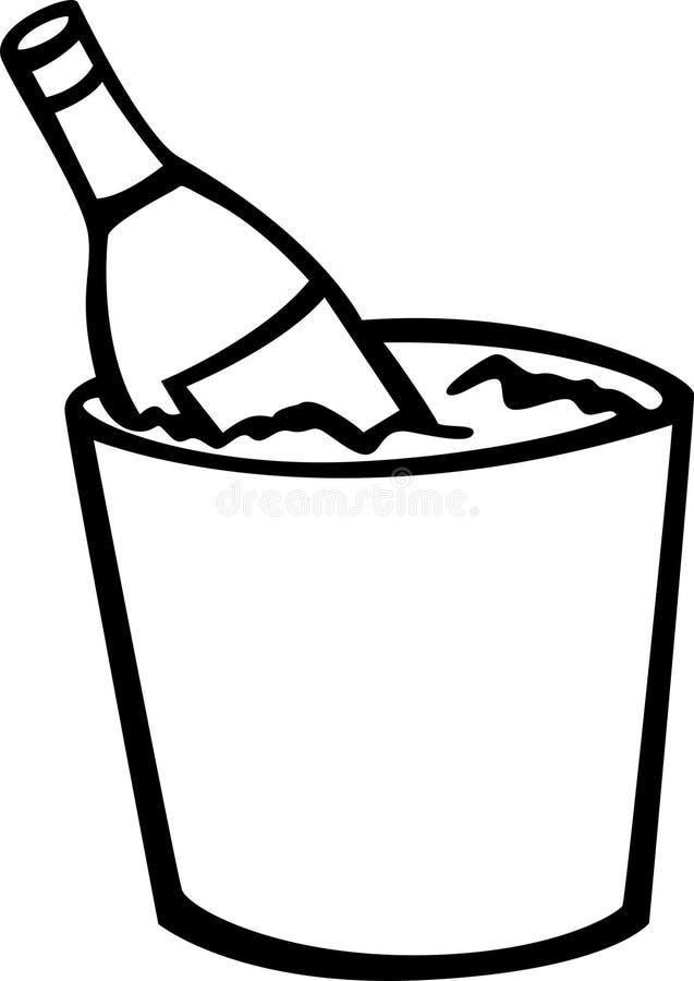льдед шампанского иллюстрация штока