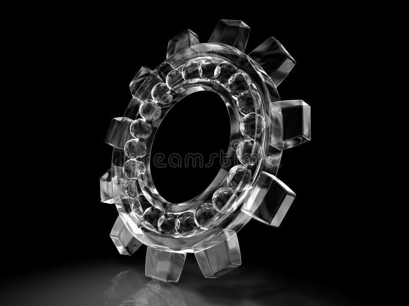 льдед шестерни подшипника иллюстрация вектора