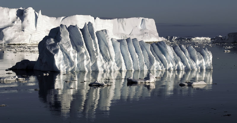 льдед floe струился стоковое фото