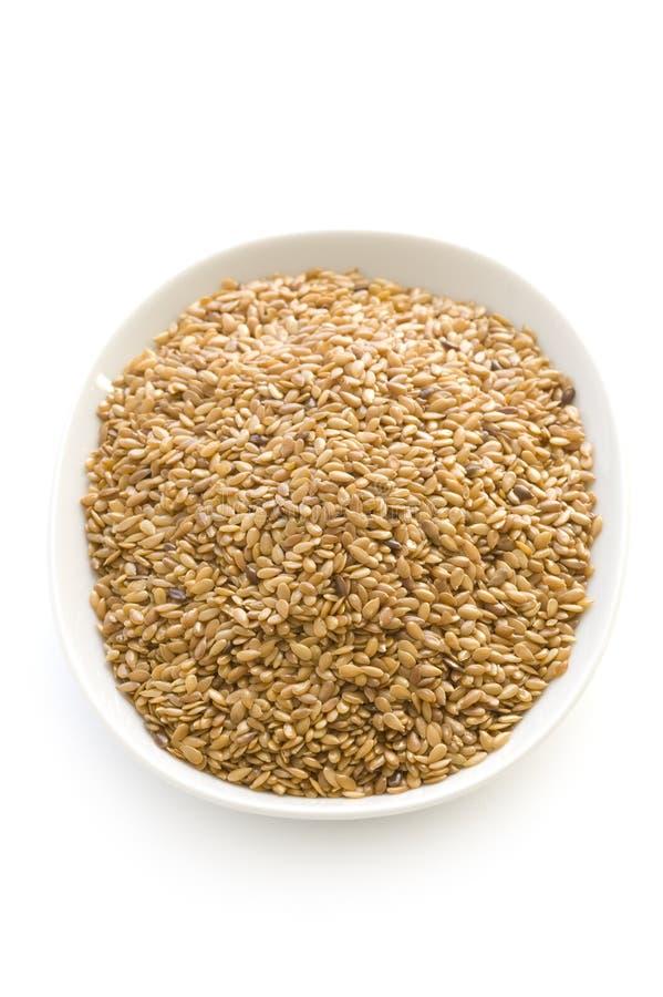 Льняное семя или flaxseed   стоковые фото