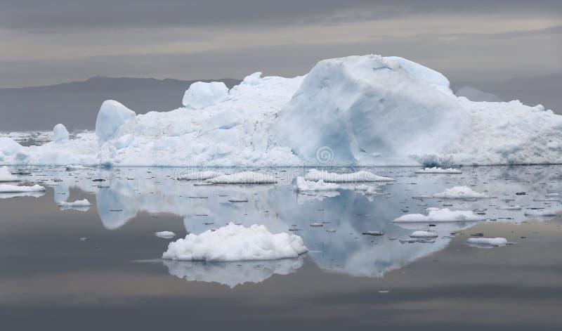 Льды и айсберги полярных областей земли стоковое изображение