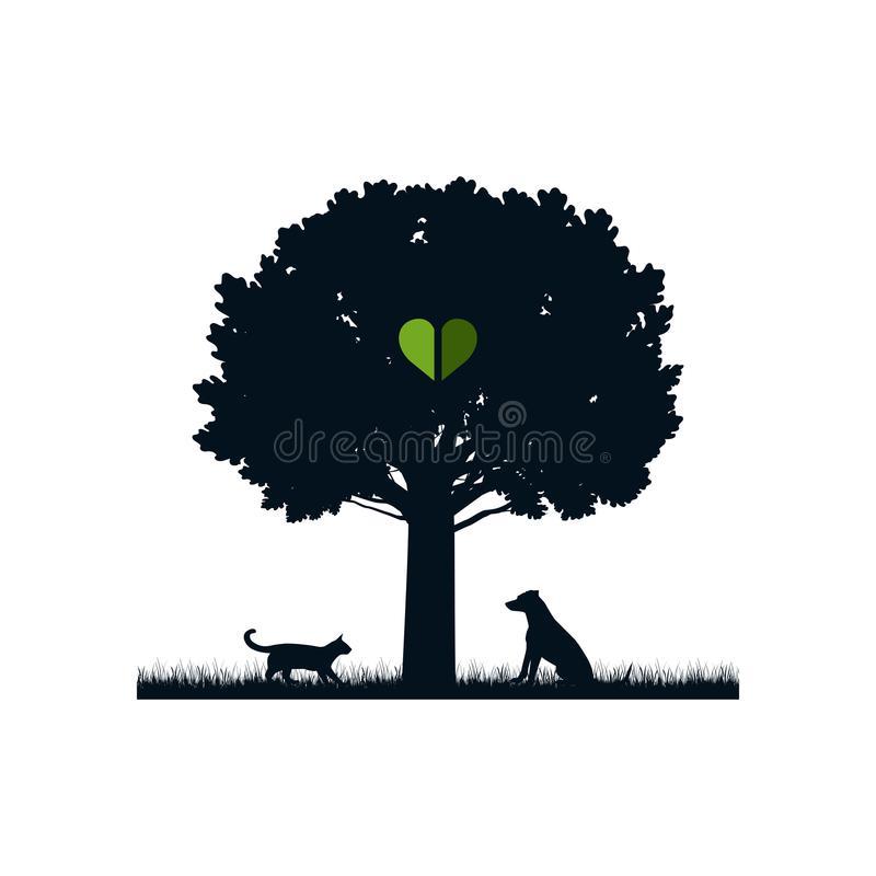 Любимчики в природе иллюстрация штока